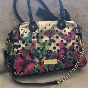 Betsey Johnson Purse Handbag Butterflies